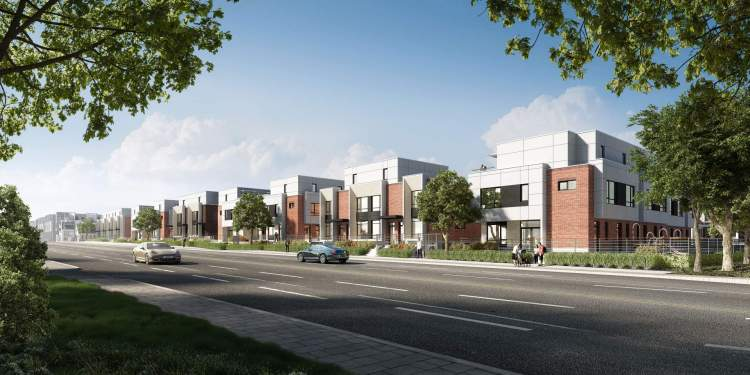 A collection of luxurious family-style townhomes at Oak Street and West 49th Avenue.