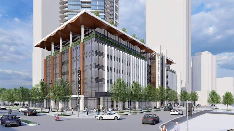 A 7-storey podium provides 235,000 sq ft of office space.