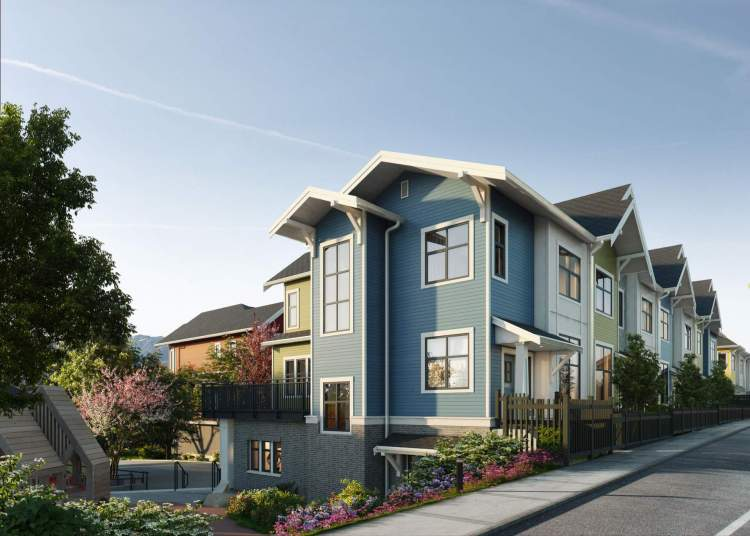43 x 3-storey Moody Centre townhomes with 3- and 4-bedroom floorplans.
