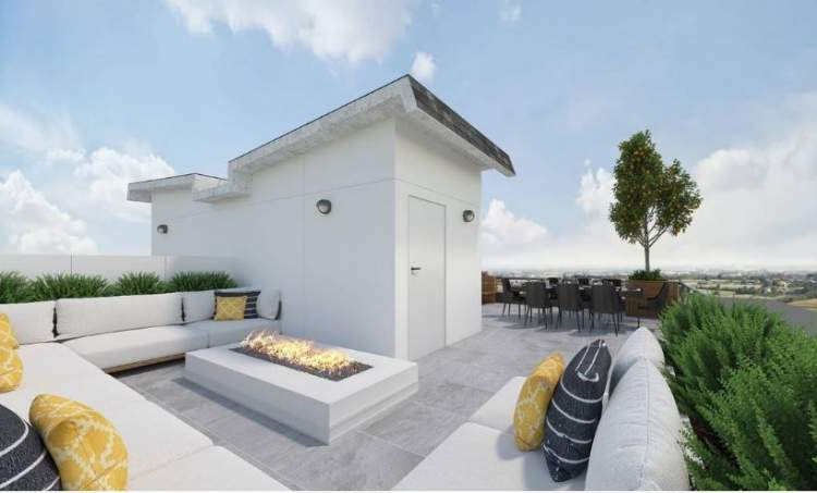 Only 12 townhomes feature four bedrooms and a spacious roof deck for al fresco entertaining.