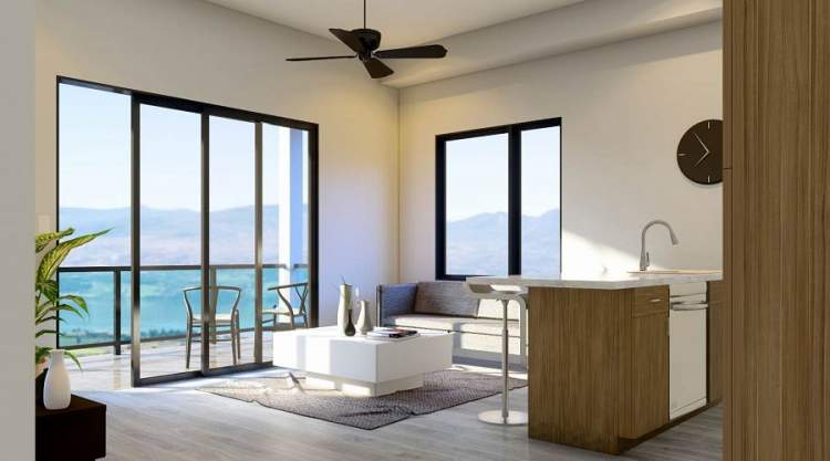 Abode condominiums offer open concept living spaces with a choice of two designer colour schemes.