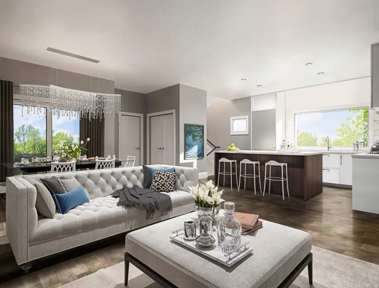 Burgundy living room.