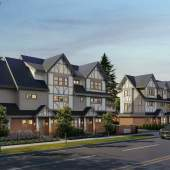 Eleven Tudor-inspired luxury townhomes with 2- or 3-storey floorplans.
