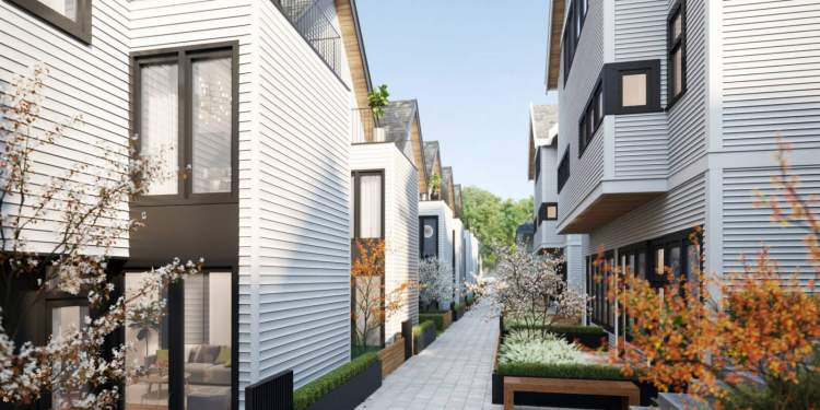 The homes are centred around the joyful and emotive nature of life on the square.