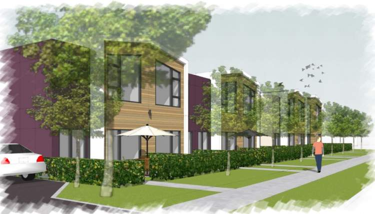 A collection of 22 modern townhomes near Nanaimo's University District.