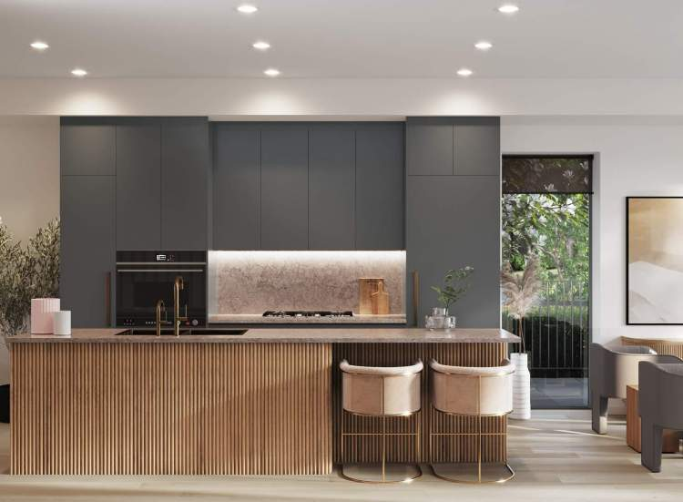 Custom cabinetry, millwork and integrated appliances elevate the entire culinary experience.