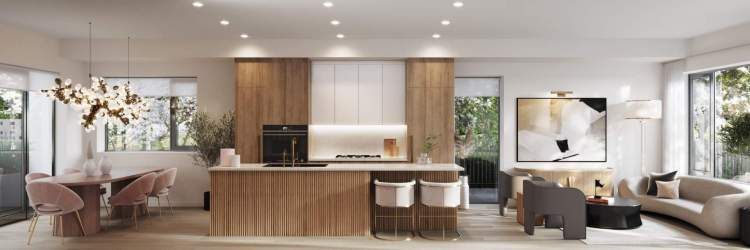 Refined interiors with a choice of two colour palettes by award-winning House of Bohn Designs.