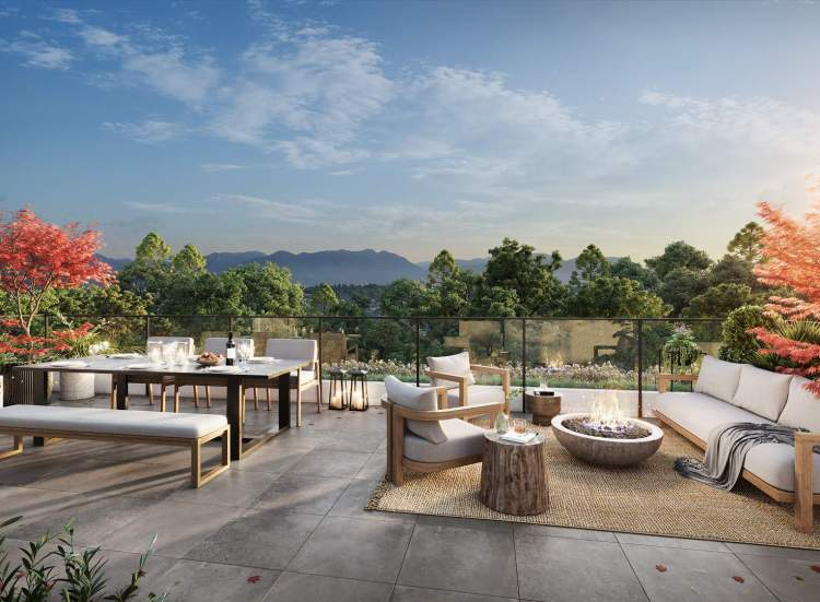 Private rooftop terrace for select homes.