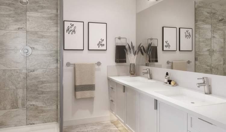 Double vanity sinks in both main & en suite bathrooms and luxurious soaker tub in main bathrooms.