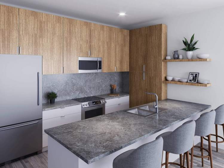 Form and function come together in the contemporary gourmet kitchens.