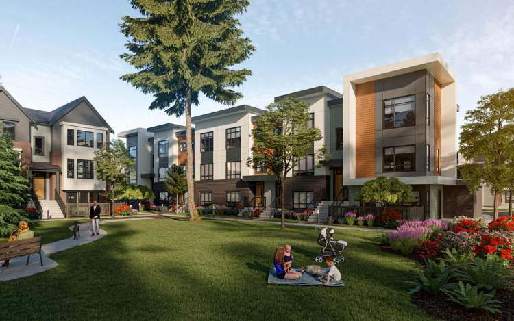Acadia Townhomes is a centrally-located community with a campus feel.