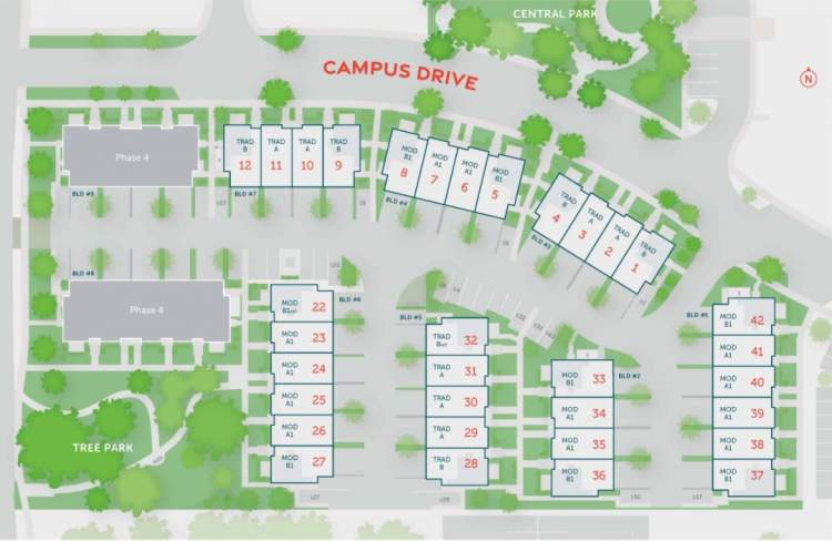 Garrison Campus is the final phase of Garrison Crossing – an inclusive home for families, professionals, and students.