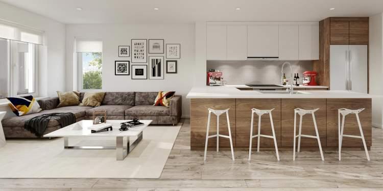 Scandinavian-inspired interiors by i3 design.