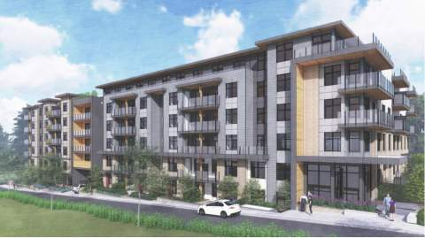 A Collection Of 174 Condominiums & Townhouses By Porte Homes In Surrey City Centre.