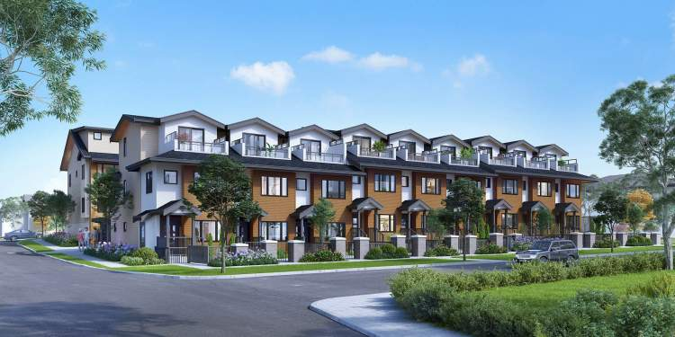 A collection of 26 two- to four-bedroom townhomes in East Vancouver's Joyce-Collingwood neighbourhood.