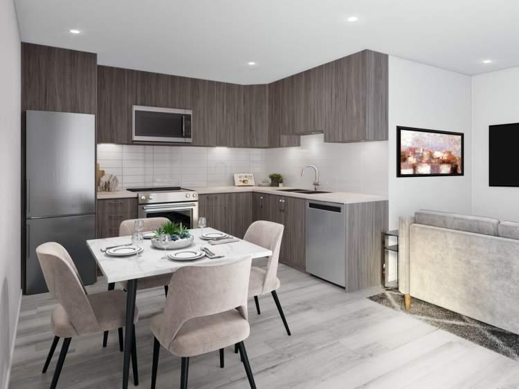 Designer rendering of Rae Garden kitchen.