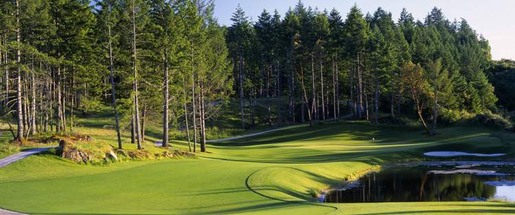 The rugged, challenging Mountain Course at Bear Mountain is the premier golf experience in Canada.