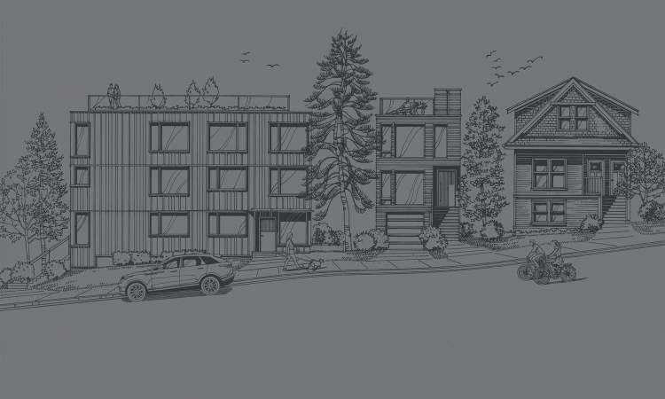 A boutique collection of eight city homes and a private single-family residence.