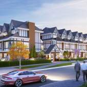 A new collection of 23 Tudor-style townhouses in Burnaby's Edmonds Town Centre neighbourhood.
