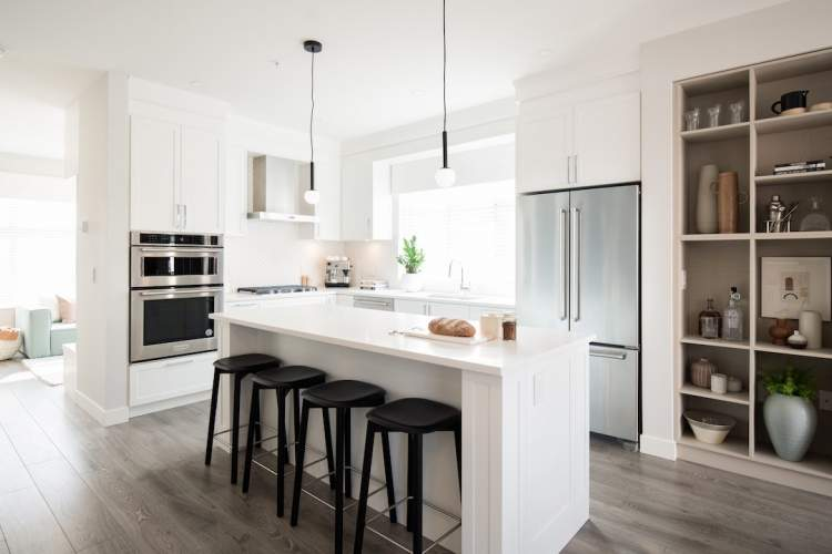 Noble homes include stainless steel appliances from KitchenAid.