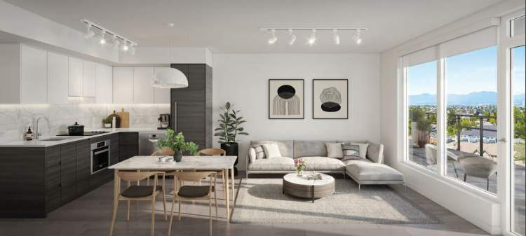 Open-concept layouts with a choice of two colour palettes.