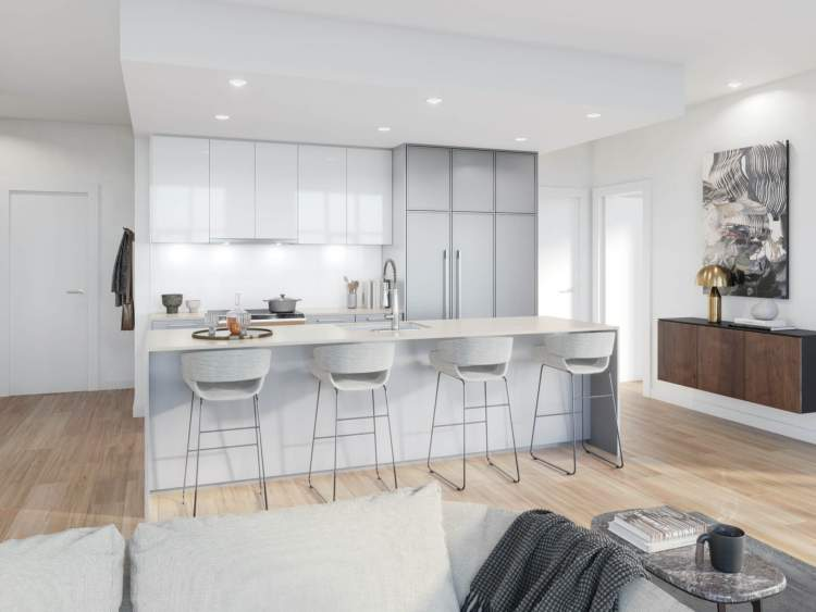 The kitchens at Two Shaughnessy are designed around your inner chef.