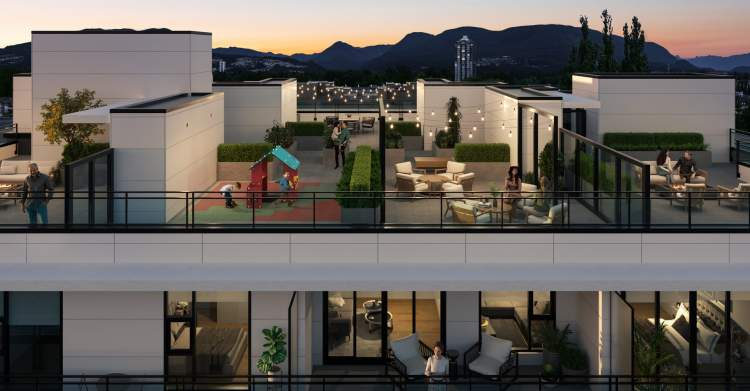 The Sky Lounge features 2,300 sq ft of outdoor oasis.