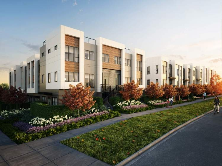 A collection of 49 townhomes and garden homes on Vancouver's West Side.