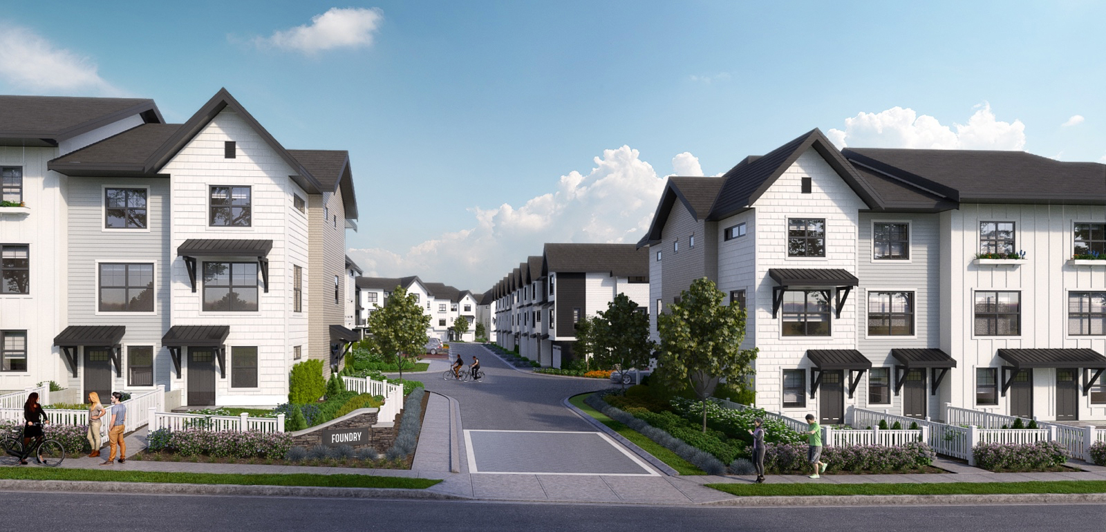 A Collection Of 106 Modern Artisan Townhomes Set On Five Acres In Langley West.