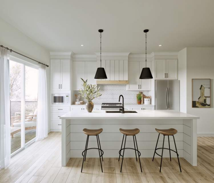 Gourmet kitchens are designed to be the focal point of the home.
