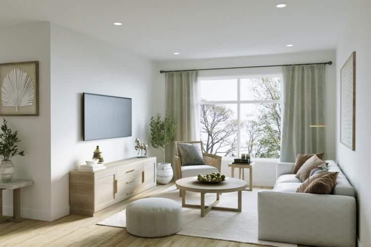 Bright, open-concept interiors showcase an artisanal approach to minimalist design.