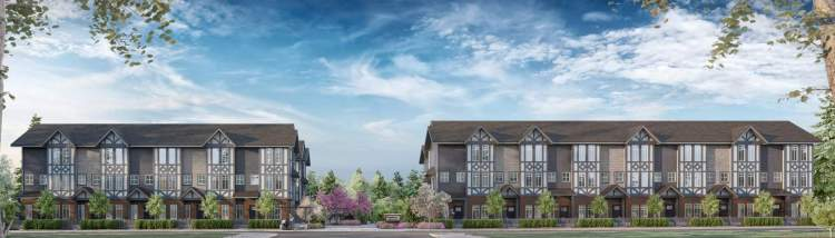 A collection of 25 family-size townhomes coming soon to Cloverdale Town Centre.