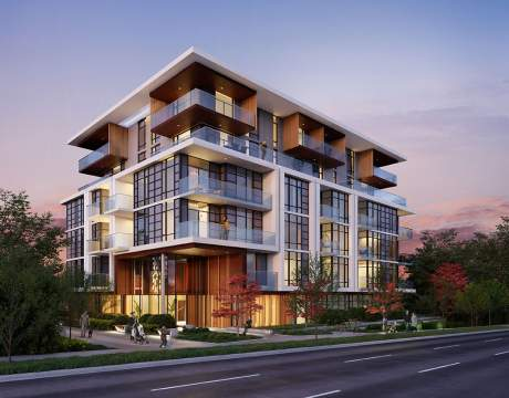 A Collection Of 42 Concrete Condominiums At Oak & 70th In Marpole.