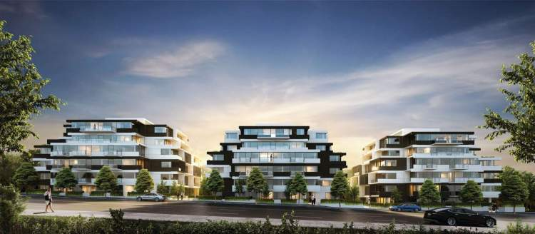 A collection of 130 modern condominiums presented in an industrial stack architecture.