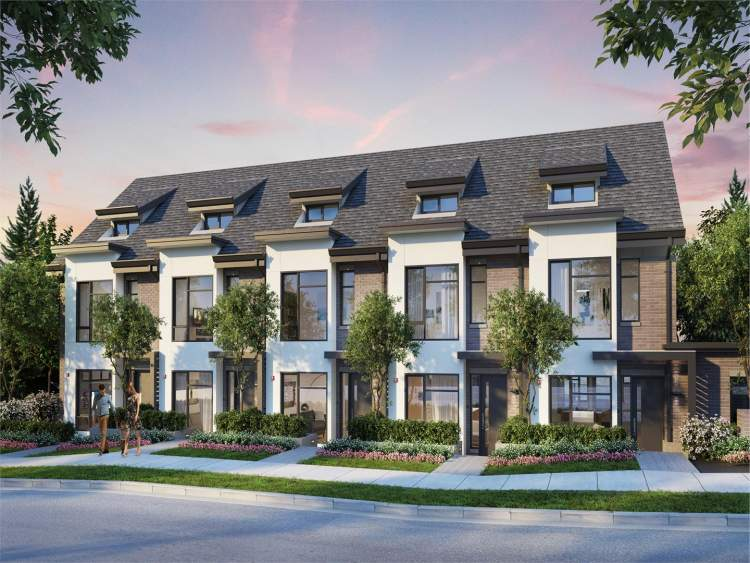 An elegant collection of 16 townhomes situated at the corner of Oak Street and Park Drive.