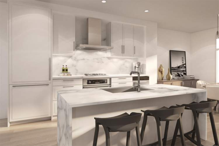 Featuring Linea D'Italia Fiero cabinets, kitchens look elegant, clean, and have a calm ambience.
