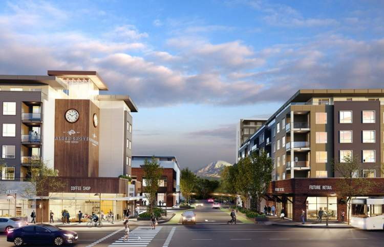 A creekside master-planned community coming soon to downtown Aldergrove.
