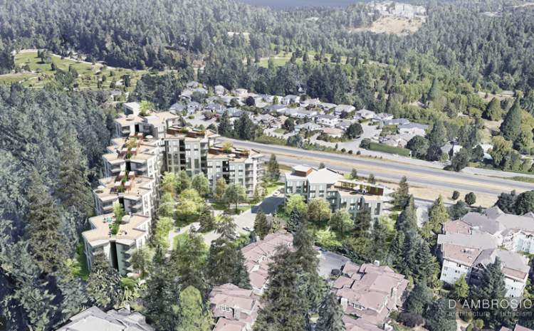 Two residential buildings located at the northern gateway to Saanich.