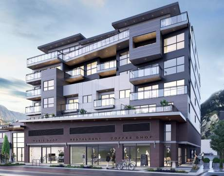 A 7-storey Mixed-used Building With 1- And 2-bedroom Condominiums Over Commercial Retail Units.