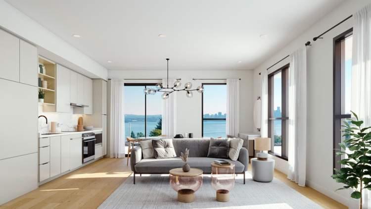 Defined by open layouts, abundant natural light, designer lighting, and hardwood flooring.