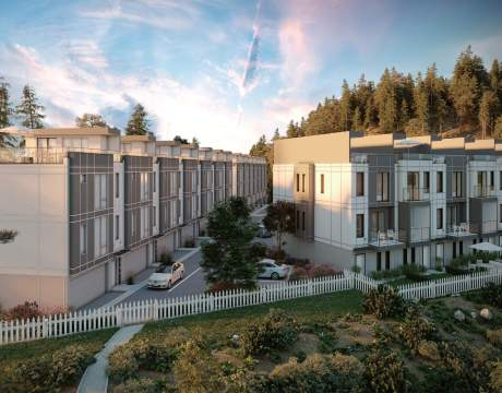 A Collection Of 97 Three-storey West Kelowna Townhomes Near Shannon Lake.