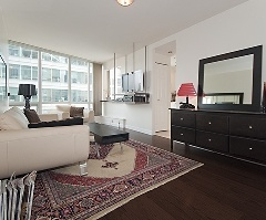 Bright and Spacious Southwest exposure 1 bedroom and den at Coal Harbour's Orca Place