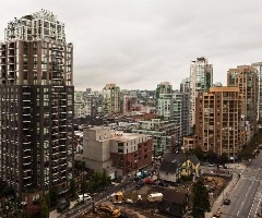 Southern Exposure with City and False Creek Views at the Miro Yaletown.  Spacious 1 Bedroom + Den