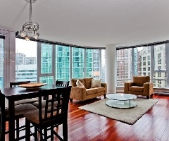 South West Exposure Two Bedroom Condo at TV Towers in Downtown Vancouver