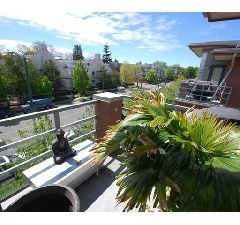 Walk to the Beach from The Bosa in Kitsilano, Top Floor, 2 Bedrooms, 2 Bathrooms + Den and balcony.